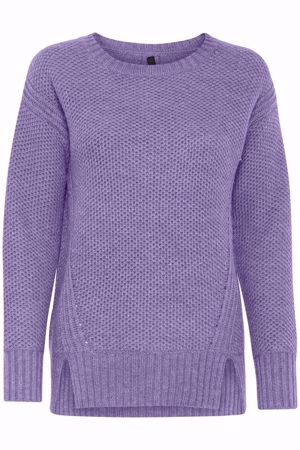 Picture of Pulz-Disa LS Pullover-Lavender