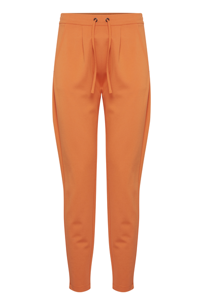 Fransa-Bestretch  Pant-Red Orange