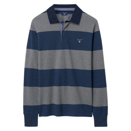 GANT-THE ORIGINAL BARSTRIPE HEAVY RUGGER-DARK-GREY-MELANGE