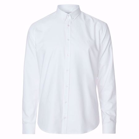 LES DEUX-CHRISTOPH OXFORD SHIRT - WHITE