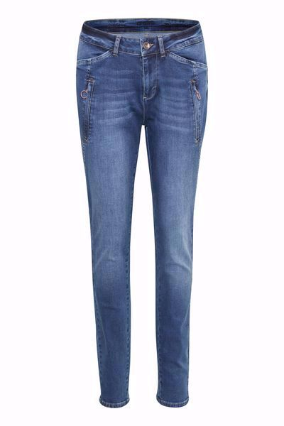 Cream-Ink Jeans  Baily Fit-Rich Blue Denim