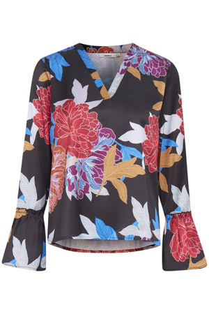 Dranella-Barbara  blouse  All over printed-Black print