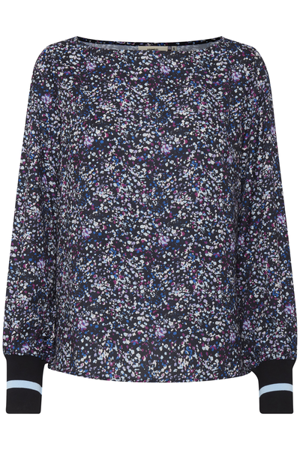 Dranella-Bertha  blouse   All over printed-Wild AsterMix
