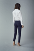 Fransa-Zapant  Pants Solid-Dark Peacoat