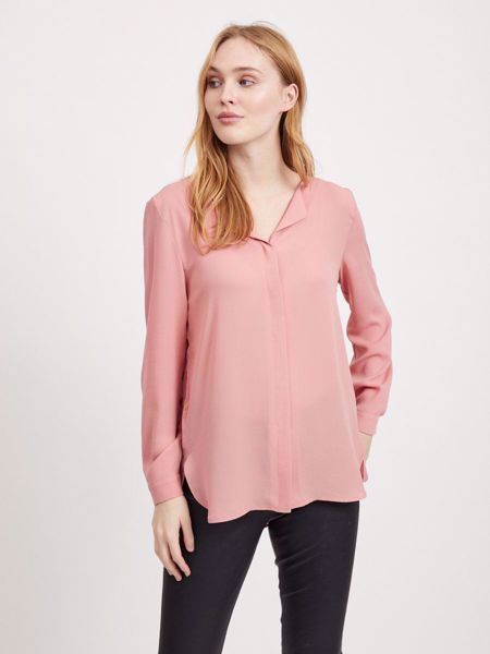 LUCY LANGERMET BLUSE - BRANDIED APRICOT