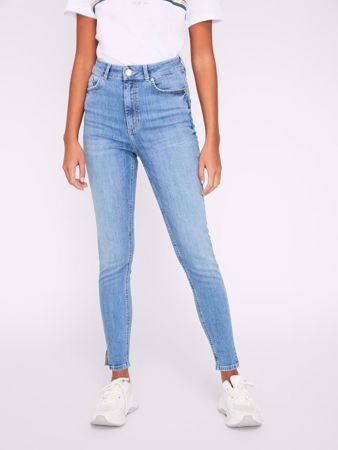 DELLY HIGH WAIST SKINNY FIT JEANS - LIGHT BLUE DENIM