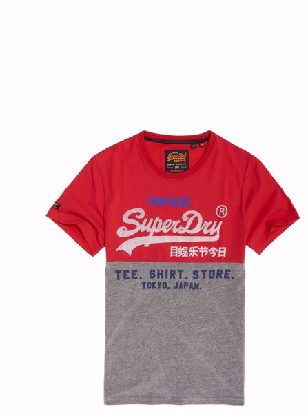 Superdry Rød T-Skjorte - Eagle Red Fluro Orange
