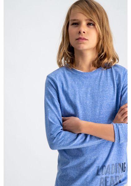 GARCIA KIDS-LIGHT BLUE T-SHIRT WITH TEXT PRINT