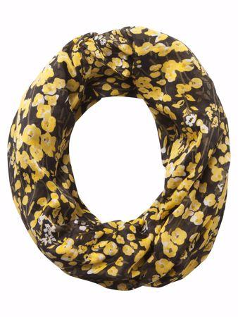 Lavana Tube skjerf - Black/Yellow