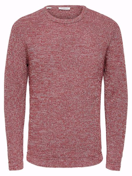 SELECTED HOMME-VICTOR KNIT-BRICK-RED