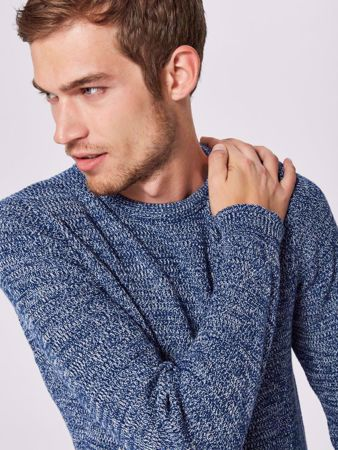 SELECTED HOMME- VICTOR KNIT-NAVY-PEONY