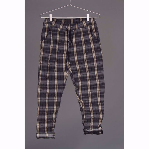 Mazing-TUNDRA trousers, square-Blue denim