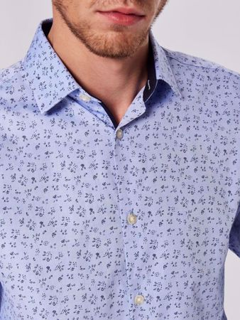 SELECTED HOMME- NEW MARK -SLIM FIT - LANGERMET SKJORTE-LIGHT-BLUE M BLOMSTER
