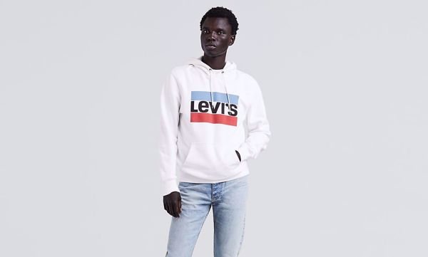 LEVI'S-GRAPHIC PULLOVER HOODIE-SPORTSWEAR-WHITE