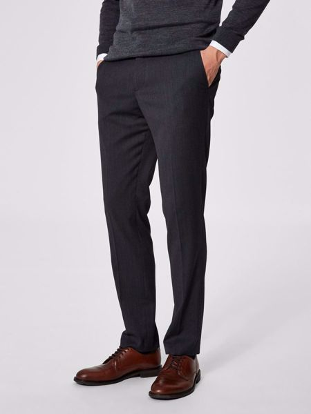 Selected Homme-SLIM-MYLOBILL TROUSER-Grey