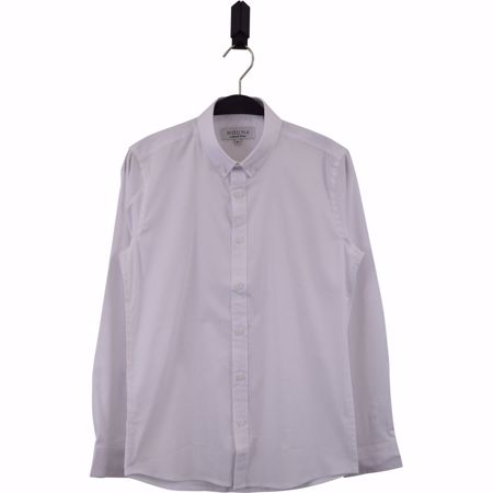 Hound-Plain button down shirt -White- 10-16 år