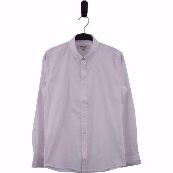 Hound-Plain button down shirt -White- 10-16 år