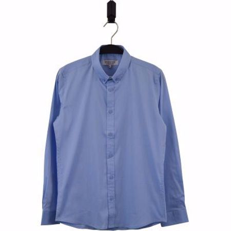 Hound-Plain button down-Light blue- 10-16 år