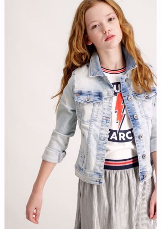 GARCIA KIDS-CHIARA SLIM DENIM JACKET-DENIM-BLUE