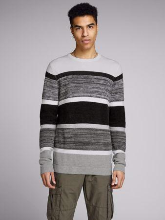 JACK strikket genser - Light Grey Melange