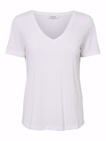 LUCY V-HALS TOP - Bright White