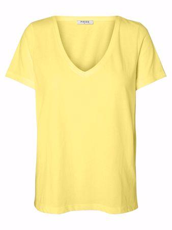 LUCY V-HALS TOP - Lemon Chrome