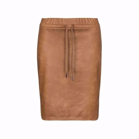One Two & Luxzuz-Abbelone Skirt-Leather