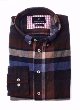 HANSEN&JACOB-WOODEN FLANEL SHIRT-MULTICOLOUR