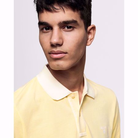 GANT-SUNBLEACHED PIQUÉ RUGGER-LEMON