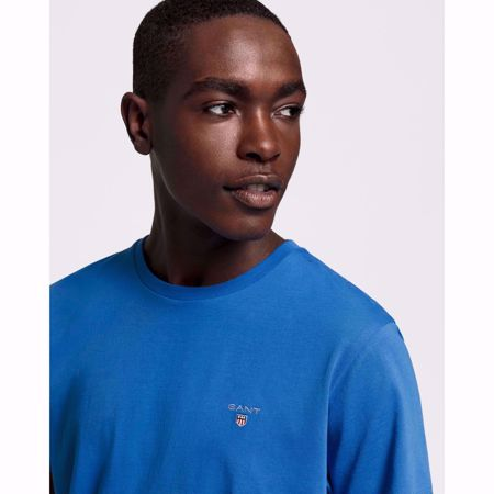 GANT-THE ORIGINAL T-SHIRT-PALACE-BLUE