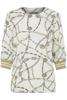 B.Young-Fifilula rib blouse-Off whiteCombi