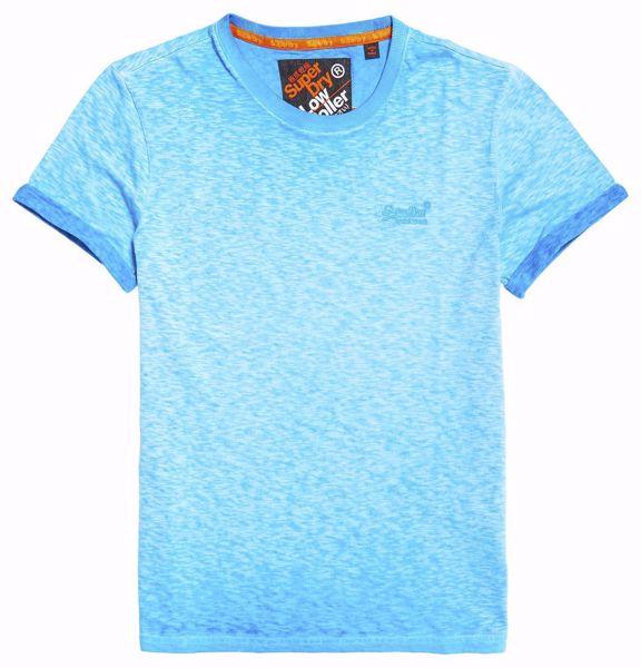 Superdry - Blå T-Skjorte - Deep Turq Hyper Pop