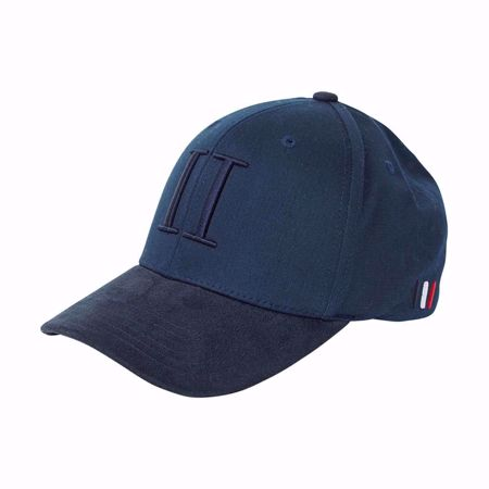 LES DEUX-BASEBALL CAP SUEDE II - NAVY-NAVY