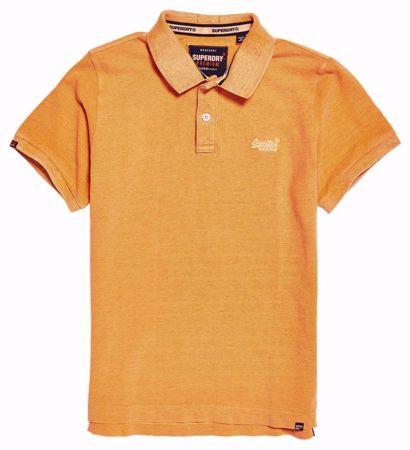 Superdry Oransje T-skjorte / pique -Marl Beach Blue