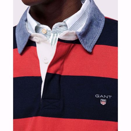 GANT Genser -ORIGINAL BARSTRIPE HEAVY RUGGER-RED