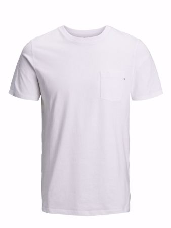 Jack&Jones Junior -POCKET TEE SS O-NECK - White