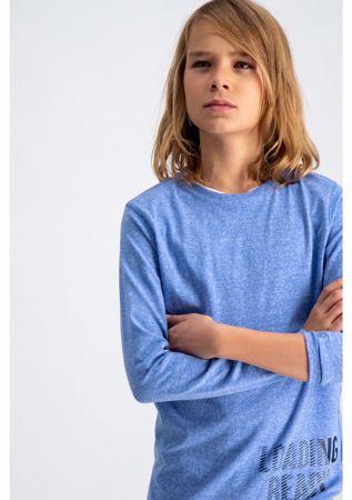GARCIA KIDS-LIGHT BLUE T-SHIRT WITH TEXT PRINT-BLUE