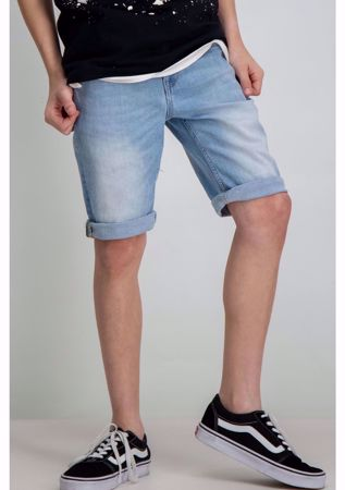 GARCIA KIDS-TAVIO SLIM DENIM SHORTS-DENIM-BLUE