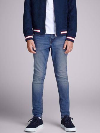 JACK&JONES JUNIOR -GUTTE SKINNY FIT JEANS-BLUE-DENIM