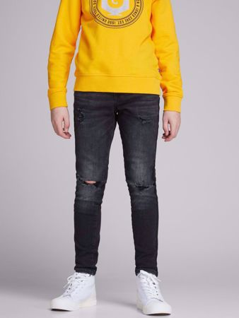 JACK&JONES JUNIOR -GUTTE SKINNY FIT JEANS-BLACK-DENIM