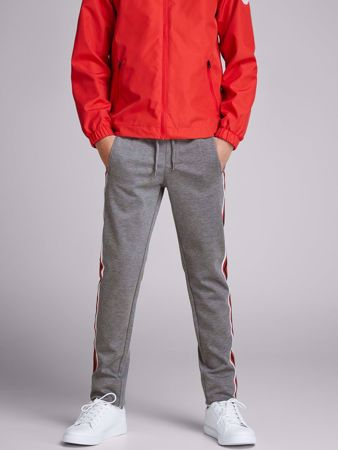 JACK&JONES JUNIOR -TAPERED GUTTE CHINOS-LIGHT-GREY-MELANGE