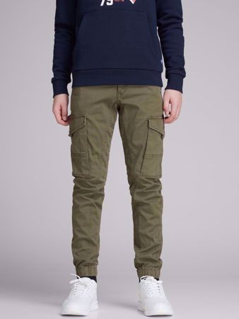 JACK&JONES JUNIOR -GUTTE CARGOBUKSER-OLIVE-NIGHT