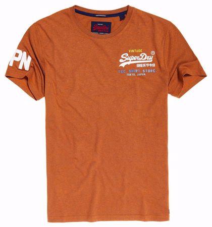Superdry-vintage logo t-shirt- Orange