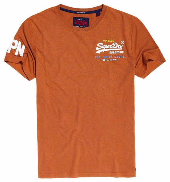 Superdry-vintage logo t-shirt- Orange