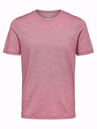 SELECTED HOMME-O-HALS T-SKJORTE-RIO-RED