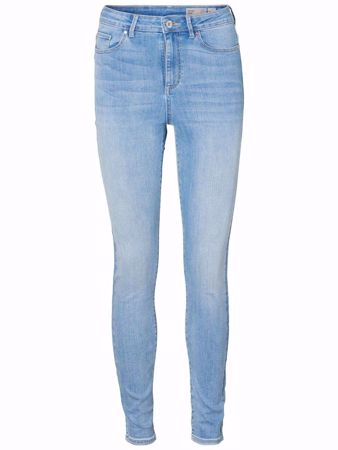 SOPHIA HIGH WAIST SKINNY FIT JEANS - LIGHT BLUE DENIM