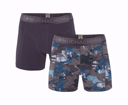 MUCHACHOMALO-1010 HUSTL 01 2PK BOXER PRINT/SOLID-PRINT/SOLID-SMALL