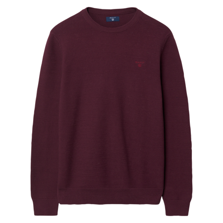 Gant-O1. LINKS LINKS CREW-PURPLE FIG