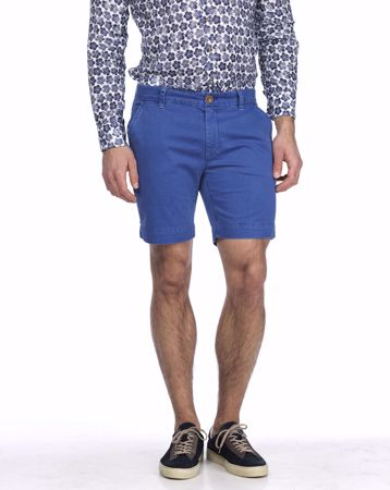 HANSEN&JACOB-CHINO SHORTS, POINTS PRINT-LT-BLUE