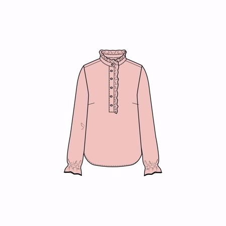 ONE TWO & LUXZUZ-DJAMI BLOUSE-ICE-PINK
